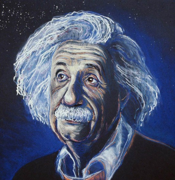 Einstein, pastel, Inst. for Adv. Studies, Princeton