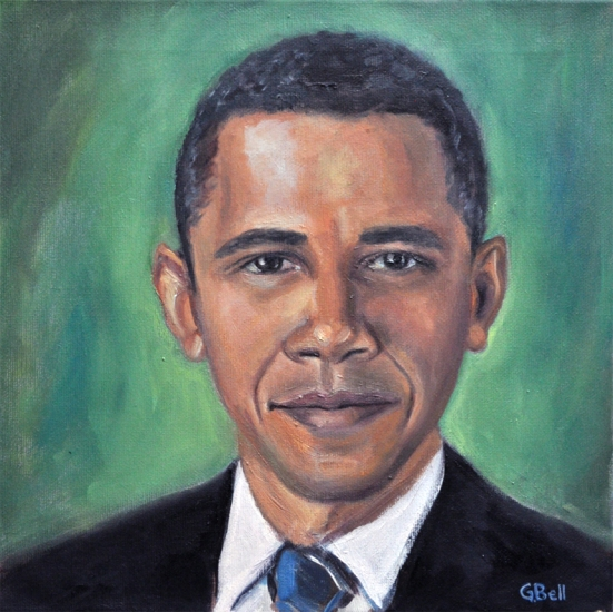 "14"" x 14"" on canvas--sold at Obama fundraiser 2012"