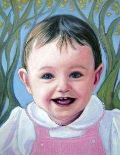 Oil portrait--Private collection