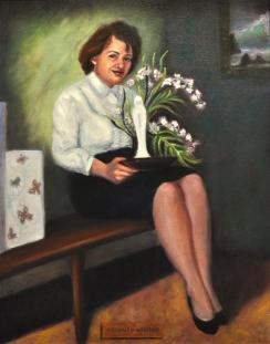 portrait, painting, oil